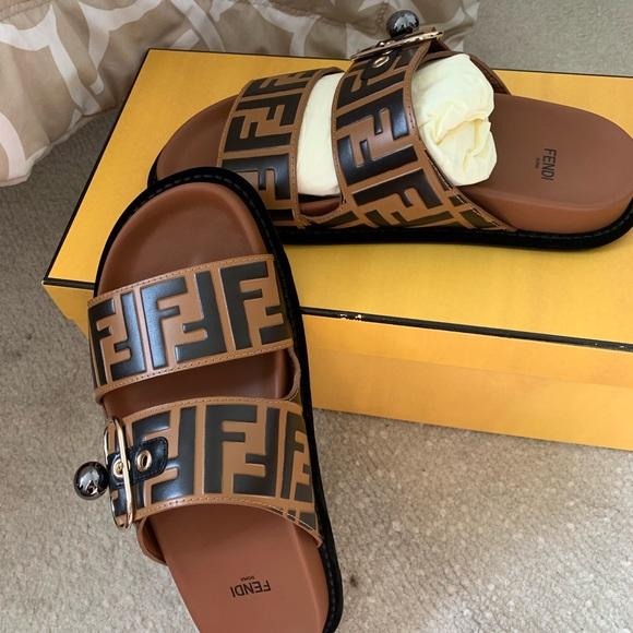 Fendi Pearland Ff Womans Slides | Poshmark